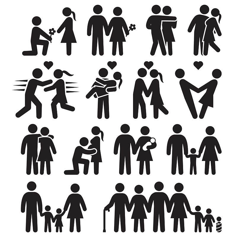 family vector icons and illustrations