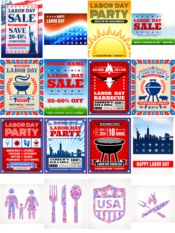 labor day vector graphics