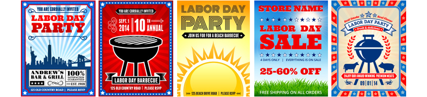 labor day party Invitations