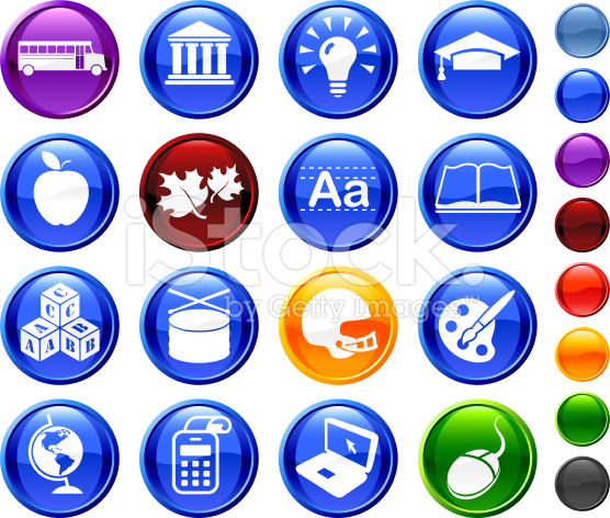 16 Icon Complete Back to School Vector Illustration by Alex Belomlinsky