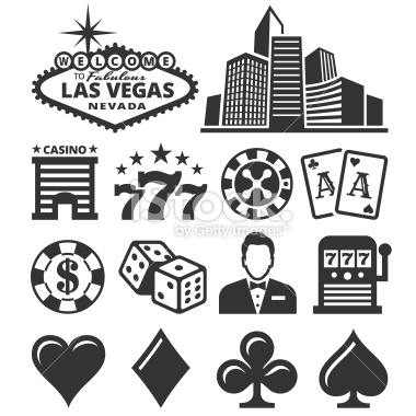 -las-vegas-casino-and-gambling-black-white-icon-set