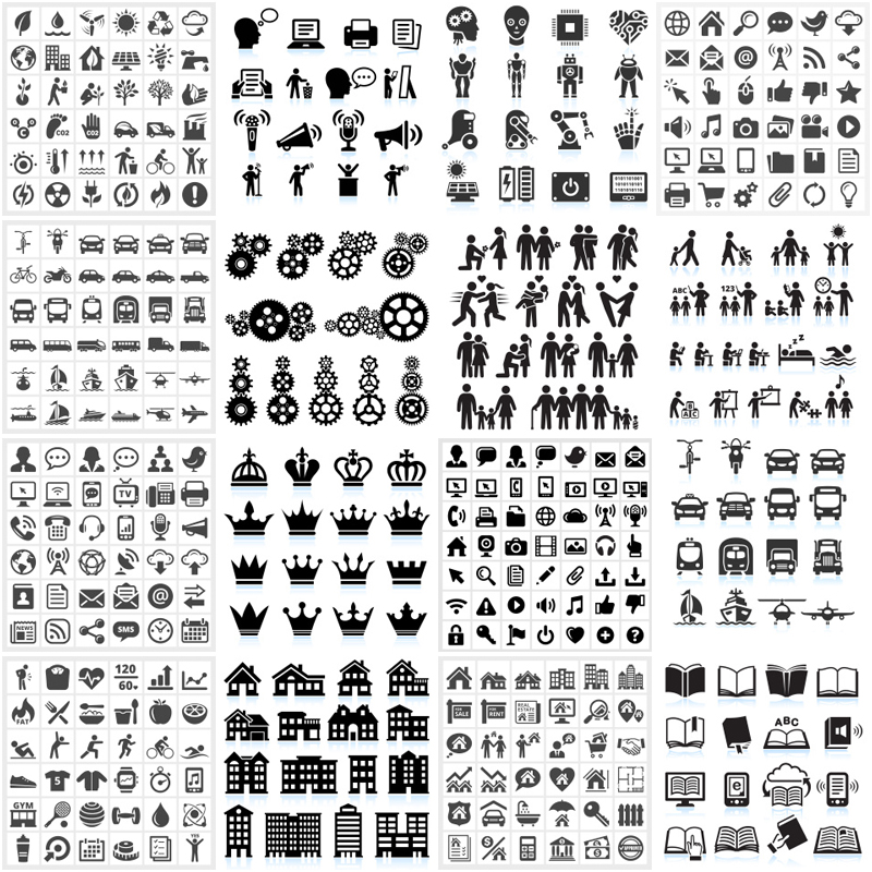 Black and White Icon Sets